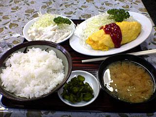 卵焼き+マカロニサラダ+小ライス