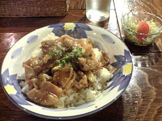 ネギ味噌ダレの豚丼