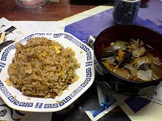チャーハン&野菜スープ