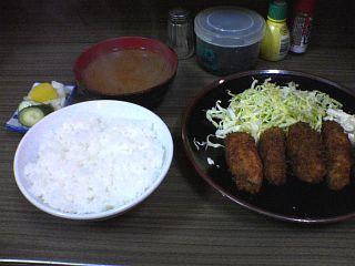 生カキフライ定食