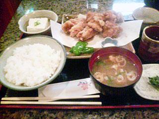 鶏竜田揚げ定食