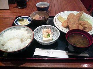 ヒレカツ・アジフライ定食