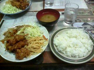 豚モツ・バラ炒め&唐揚げ