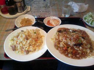 特製冷し麺と半チャーハン