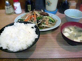 ニラレバー炒め定食