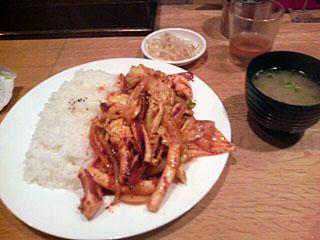 イカ炒め定食