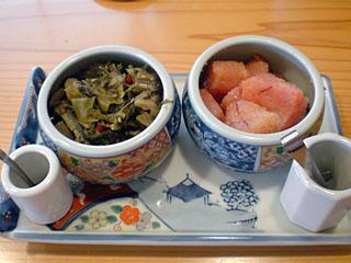 明太子と高菜
