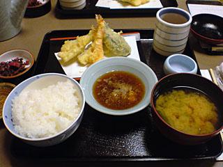 鯨天ぷら定食